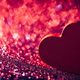 Red heart on red glittery background. - PhotoDune Item for Sale