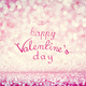 HAPPY VALENTINE'S DAY writing on pink background - PhotoDune Item for Sale