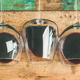 Red wine in glasses over rustic wooden background, wide composition - PhotoDune Item for Sale