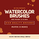 10 Watercolor Splatters Brushes - GraphicRiver Item for Sale