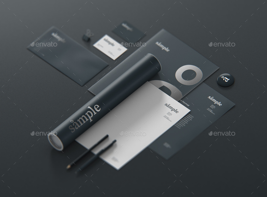 stationery branding mockup creator by visconbiz graphicriver