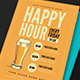 Happy Hour Beer Promotion Flyer - GraphicRiver Item for Sale