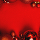 Christmas red background with fir tree, red Christmas balls. - PhotoDune Item for Sale
