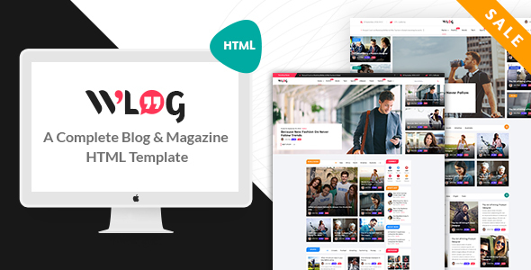 Wlog - Blog and Magazine HTML Template - Creative Site Templates