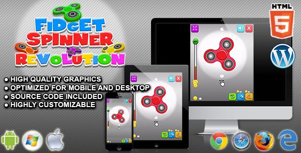 Fidget Spinner Revolution - HTML5 Skill Game - CodeCanyon Item for Sale