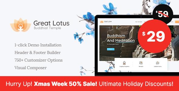 Great Lotus | Buddhist Temple WordPress Theme - Nonprofit WordPress