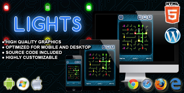 Lights - HTML5 Skill Game - CodeCanyon Item for Sale