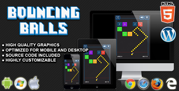 Bouncing Balls - HTML5 Skill Game - CodeCanyon Item for Sale