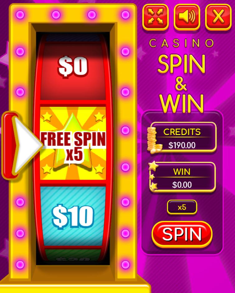Casino Spin and Win - HTML5 Casino Game