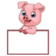 Pig with Sign - GraphicRiver Item for Sale