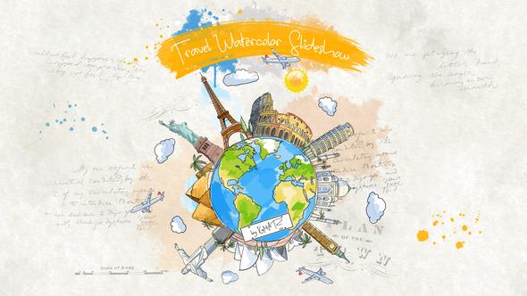 Travel Watercolor Slideshow
