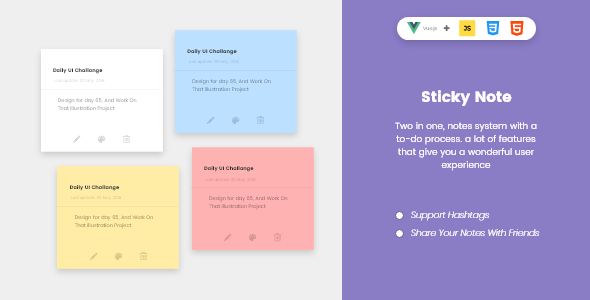 Sticky To-Do Notes - CodeCanyon Item for Sale