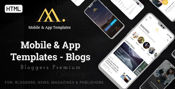 Mobile & App Templates - Blogs in HTML