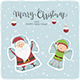 Santa and Elf Snow Angels - GraphicRiver Item for Sale