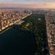 Free Download Aerial view of the sunset on Central Park, New York City  Nulled