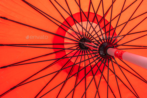 Red umbrella abstract textures and surface - Stock Photo - Images