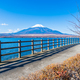Free Download Beautiful landscape of mountain fuji around yamanakako lake Nulled