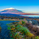 Free Download Beautiful landscape around mountain fuji in yamanakako lake Nulled