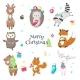 Christmas Animals Vector Isolated - GraphicRiver Item for Sale
