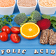 Inscription folic acid with nutritious different ingredients containing vitamin B9 - PhotoDune Item for Sale