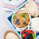Free Download Healthy breakfast set with muesli, berries and milk Nulled