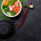 Free Download Poke bowl with salmon and vegetables Nulled