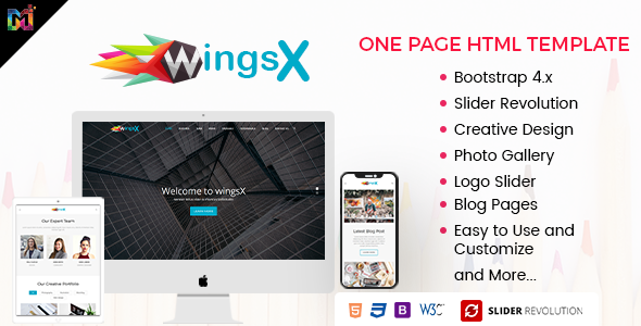 WingsX - One Page Parallax