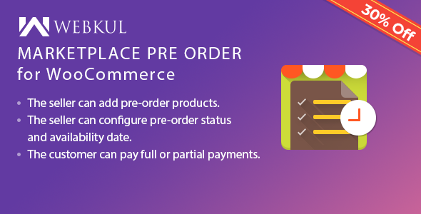 Marketplace Pre Order Plugin for WooCommerce - CodeCanyon Item for Sale