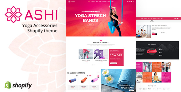 Ashi | Yoga Pilates, Fitness Shopify Theme
