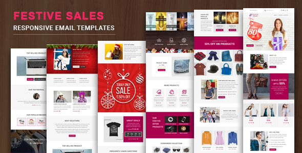 Festive Sales - Multipurpose Responsive Email Template with Online StampReady Builder & Mailchimp E - Newsletters Email Templates