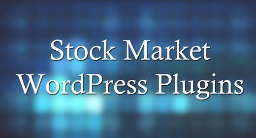 Stock Market WordPress Plugins
