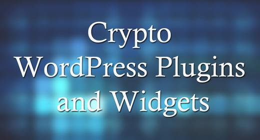 Crypto WordPress Plugins and Widgets