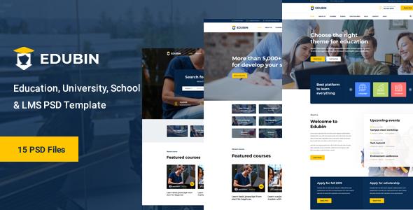 Edubin - LMS Education PSD Template - Miscellaneous PSD Templates