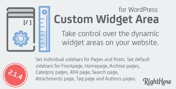 Custom Widget Areas for WordPress - CodeCanyon Item for Sale