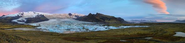 Fjallsarlon Glacial Lagoon - Stock Photo - Images