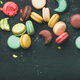 Free Download Flat-lay of sweet colorful French macaron cookies Nulled