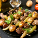 Free Download Bbq from chicken liver, potato and bell pepper. Nulled