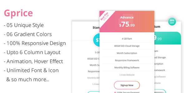 Gprice - Gradient Bootstrap Pricing Tables - CodeCanyon Item for Sale