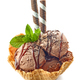 chocolate ice cream in waffle basket - PhotoDune Item for Sale
