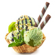 green ice cream in waffle basket - PhotoDune Item for Sale
