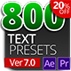 800 Text Presets for Premiere Pro & After effects - VideoHive Item for Sale