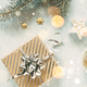 Free Download Christmas background with festive decoration Nulled