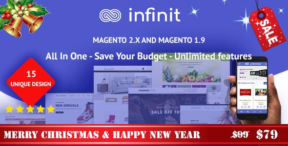 Infinit - magento 2 & magento 1 theme, multipurpose responsive theme
