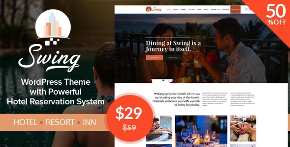 Swing - Resort and Hotel WordPress Theme - Travel Retail