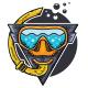 Snorkeling Logo - GraphicRiver Item for Sale