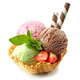 various ice cream scoops in waffle basket - PhotoDune Item for Sale