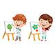 Vector Illustration of Kids Making Art Performance - GraphicRiver Item for Sale