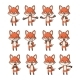 Cartoon Fox Set - GraphicRiver Item for Sale