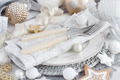 Silver Christmas Table Setting - PhotoDune Item for Sale