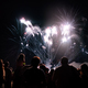 Free Download Crowd watching fireworks and celebrating new year Nulled